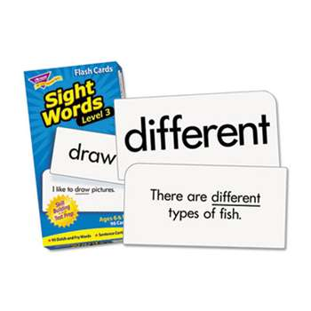 TREND ENTERPRISES, INC. Skill Drill Flash Cards, 3 x 6, Sight Words Set 3