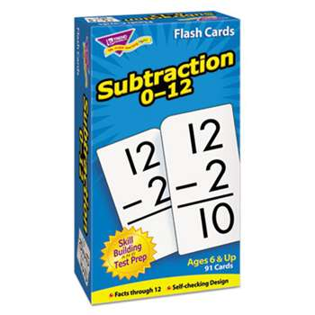 TREND ENTERPRISES, INC. Skill Drill Flash Cards, 3 x 6, Subtraction