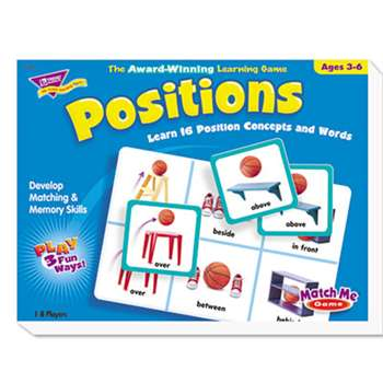 TREND ENTERPRISES, INC. Positions Match Me Puzzle Game, Ages 5-8