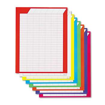TREND T73901 Vertical Incentive Chart Pack, 22w x 28h, 8 Assorted Colors, 8/Pack
