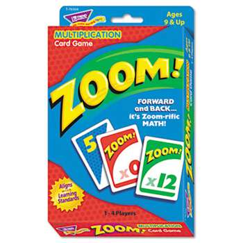 TREND ENTERPRISES, INC. Zoom Math Card Game, Ages 9 and Up