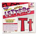 "TREND ENTERPRISES, INC. Ready Letters Playful Combo Set, Red, 4""h, 216/Set"