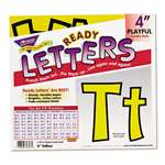 "TREND ENTERPRISES, INC. Ready Letters Playful Combo Set, Yellow, 4""h, 216/Set"