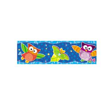"TREND ENTERPRISES, INC. Bolder Borders, 11 panels, 2 3/4"" x 39"", Owls/Stars"