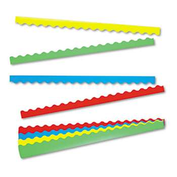 TREND ENTERPRISES, INC. Terrific Trimmers Border Variety Pack, 2 1/4 x 39, Assorted Colors, 48/Set