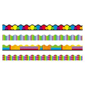 "TREND ENTERPRISES, INC. Terrific Trimmers Border, 2 1/4 x 39"" Panels, Color Collage Designs, 48/Set"