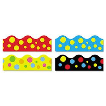 "TREND ENTERPRISES, INC. Terrific Trimmers Border, 2 1/4 x 39"" Panels, Lotsa Spots, Assorted, 48/Set"