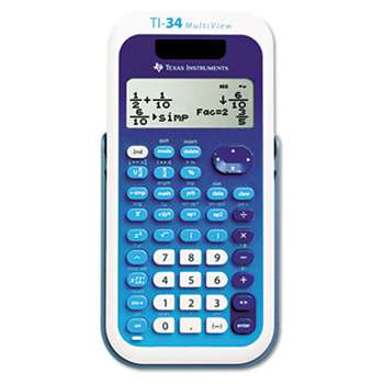 TEXAS INSTRUMENTS TI-34 MultiView Scientific Calculator, 16-Digit LCD