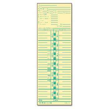 TOPS BUSINESS FORMS Time Card for Acroprint and Lathem, Weekly, 3 1/2 x 10 1/2, 500/Box