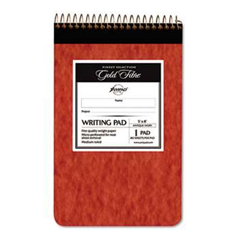 AMPAD/DIV. OF AMERCN PD&PPR Gold Fibre Retro Wirebound Writing Pad, College/Medium, 5 x 8, Ivory, 80 Sheets