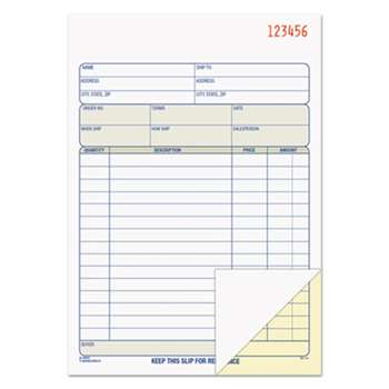 TOPS BUSINESS FORMS Sales Order Book, 5-9/16 x 7-15/16, Two-Part Carbonless, 50 Sets/Book