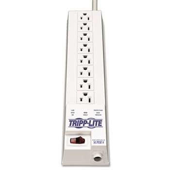 TRIPPLITE SK6-6 Protect It! Surge Suppressor, 8 Outlets, 8 ft Cord, 1080 Joules, White