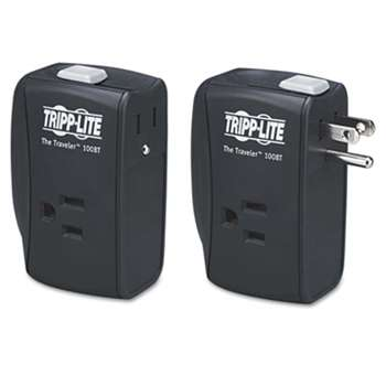 TRIPPLITE Protect It! Two-Outlet Portable Surge Suppressor, 1050 Joules, Black