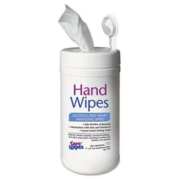 2XL 470 Alcohol Free Hand Sanitizing Wipes, 7 x 8, White