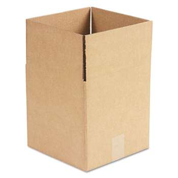 General Supply 101010 Brown Corrugated - Cubed Fixed-Depth Shipping Boxes, 10l x 10w x 10h, 25/Bundle