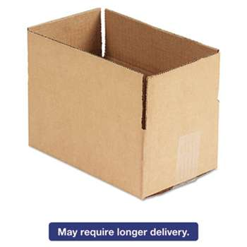 GENERAL SUPPLY Brown Corrugated - Fixed-Depth Shipping Boxes, 10l x 6w x 4h, 25/Bundle