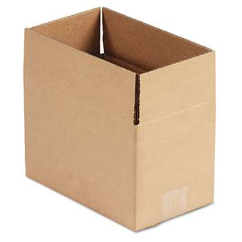 General Supply 1066 Brown Corrugated - Fixed-Depth Shipping Boxes, 6l x 10w x 6h, 25/Bundle