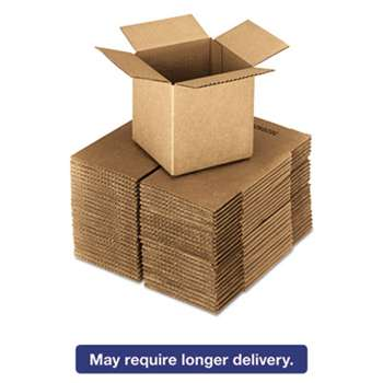 GENERAL SUPPLY Brown Corrugated - Cubed Fixed-Depth Shipping Boxes, 24l x 24w x 24h, 10/Bundle