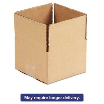 GENERAL SUPPLY Brown Corrugated - Fixed-Depth Shipping Boxes, 6l x 6w x 4h, 25/Bundle