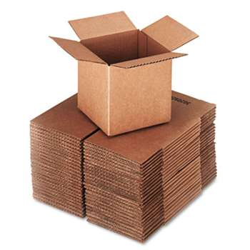 GENERAL SUPPLY Brown Corrugated - Cubed Fixed-Depth Shipping Boxes, 6l x 6w x 6h, 25/Bundle