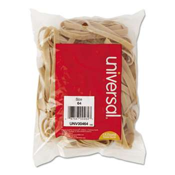 UNIVERSAL OFFICE PRODUCTS Rubber Bands, Size 64, 3-1/2 x 1/4, 80 Bands/1/4lb Pack