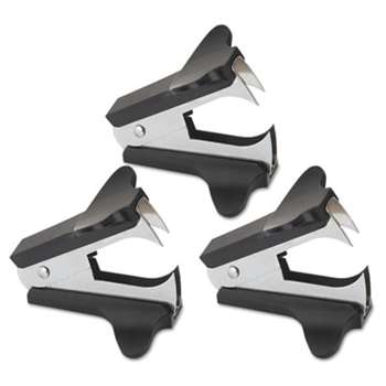 UNIVERSAL OFFICE PRODUCTS Jaw Style Staple Remover, Black, 3 per Pack