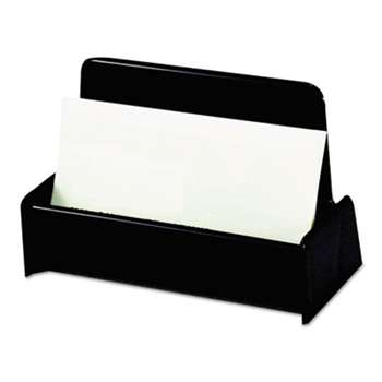 UNIVERSAL OFFICE PRODUCTS Business Card Holder, Capacity 50 3 1/2 x 2 Cards, Black
