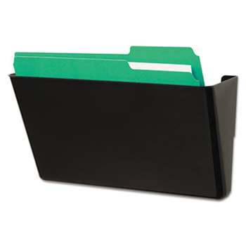 Universal 08122 Recycled Wall File, Add-On Pocket, Plastic, Black