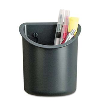 UNIVERSAL OFFICE PRODUCTS Recycled Plastic Cubicle Pencil Cup, 4 1/4 x 2 1/2 x 5, Charcoal