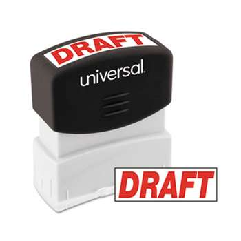 UNIVERSAL OFFICE PRODUCTS Message Stamp, DRAFT, Pre-Inked One-Color, Red