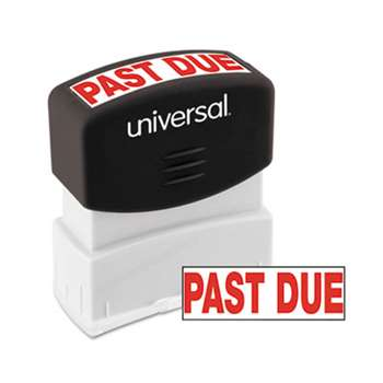 UNIVERSAL OFFICE PRODUCTS Message Stamp, PAST DUE, Pre-Inked One-Color, Red