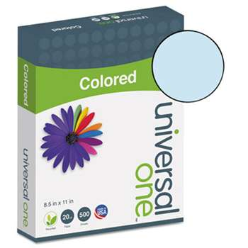 UNIVERSAL OFFICE PRODUCTS Colored Paper, 20lb, 8-1/2 x 11, Blue, 500 Sheets/Ream