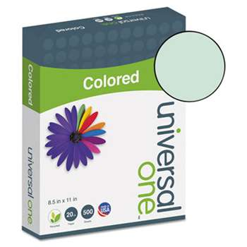 UNIVERSAL OFFICE PRODUCTS Colored Paper, 20lb, 8-1/2 x 11, Green, 500 Sheets/Ream