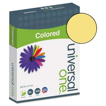 UNIVERSAL OFFICE PRODUCTS Colored Paper, 20lb, 8-1/2 x 11, Goldenrod, 500 Sheets/Ream