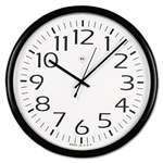 UNIVERSAL OFFICE PRODUCTS Round Wall Clock, Black, 12""