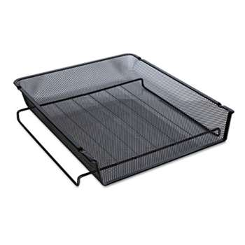 UNIVERSAL OFFICE PRODUCTS Mesh Stackable Front Load Tray, Letter, Black