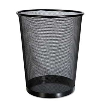 UNIVERSAL OFFICE PRODUCTS Mesh Wastebasket, 18qt, Black