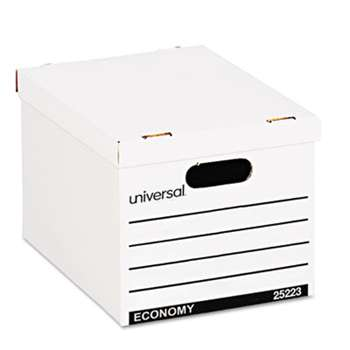 UNIVERSAL OFFICE PRODUCTS Economy Boxes, 12 x 15 x 9 7/8, White, 10/Carton