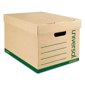 UNIVERSAL OFFICE PRODUCTS Recycled Record Storage Box, Letter, 12 x 15 x 10, Kraft, 12/Carton