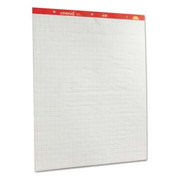 UNIVERSAL OFFICE PRODUCTS Recycled Easel Pads, Quadrille Rule, 27 x 34, White, 50 Sheet 2/Ctn