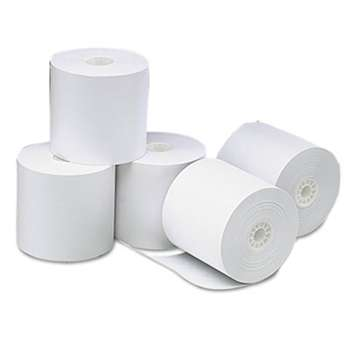 "UNIVERSAL OFFICE PRODUCTS Single-Ply Thermal Paper Rolls, 3 1/8"" x 273 ft, White, 50/Carton"