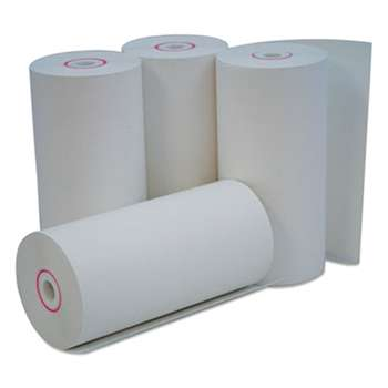 "UNIVERSAL OFFICE PRODUCTS Single-Ply Thermal Paper Rolls, 4 3/8"" x 127 ft, White, 50/Carton"