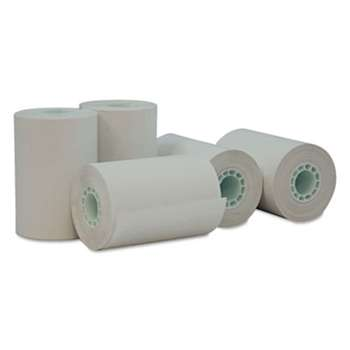 "UNIVERSAL OFFICE PRODUCTS Single-Ply Thermal Paper Rolls, 2 1/4"" x 55 ft, White, 50/Carton"