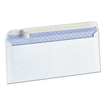 UNIVERSAL OFFICE PRODUCTS Peel Seal Strip Business Envelope, Security Tint, #10, White, 100/Box