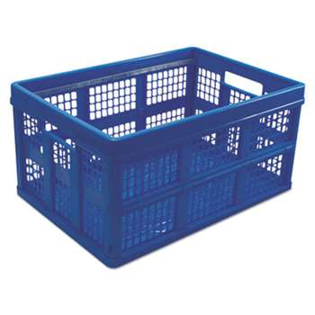 UNIVERSAL OFFICE PRODUCTS Filing/Storage Tote Storage Box, Plastic, 20-1/8 x 14-5/8 x 10-3/4, Blue