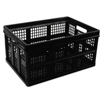 UNIVERSAL OFFICE PRODUCTS Filing/Storage Tote Storage Box, Plastic, 20-1/8 x 14-5/8 x 10-3/4, Black