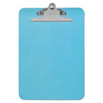 "UNIVERSAL OFFICE PRODUCTS Plastic Clipboard with High Capacity Clip, 1"" Capacity, Holds 8 1/2 x 12, Blue"
