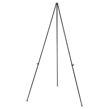 "UNIVERSAL OFFICE PRODUCTS Heavy-Duty Instant Setup Foldaway Easel, Adjusts 25"" - 63"" High, Aluminum, Black"