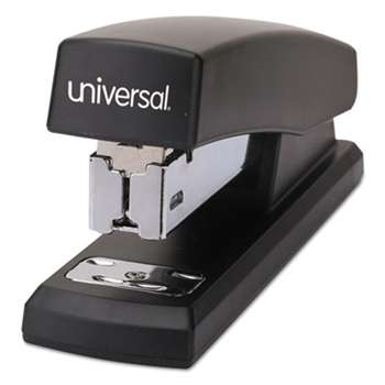 "UNIVERSAL OFFICE PRODUCTS Economy Half-Strip Stapler, 20-Sheet Capacity, 2"" Throat, Black"