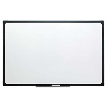UNIVERSAL OFFICE PRODUCTS Dry Erase Board, Melamine, 48 x 36, Black Frame